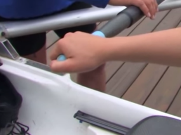 Sculling grip in the power phase