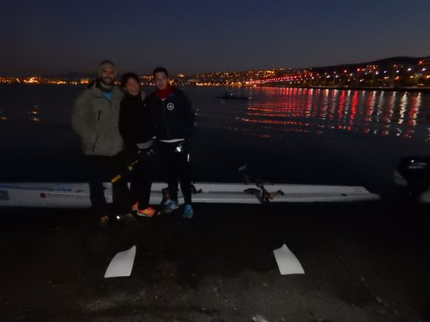 A late finish for coastal rowing Thessaloniki Club