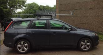 car rowing roof rack