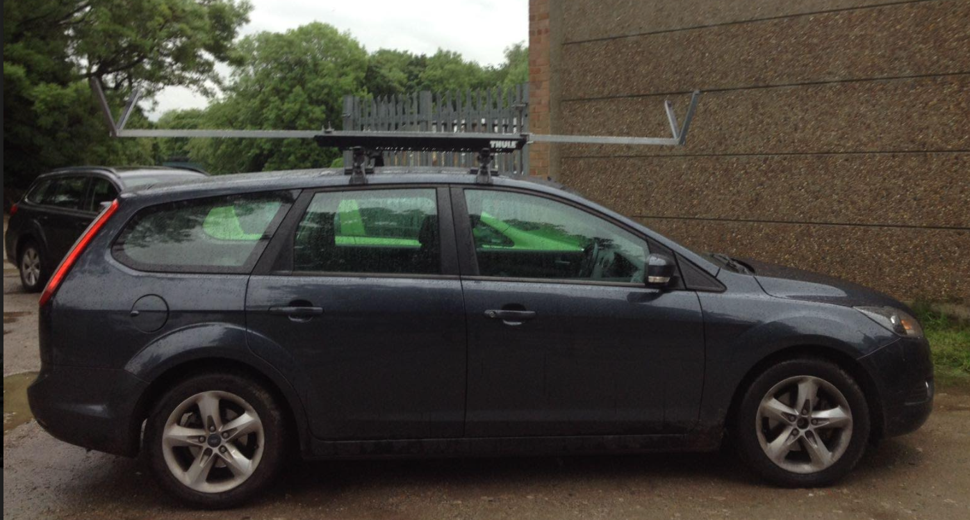 My Car Roof Rack For A Single Scull Wobbles Rowperfect Uk