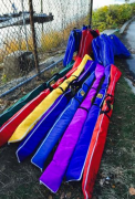Oar bags and rigger bags for rowing