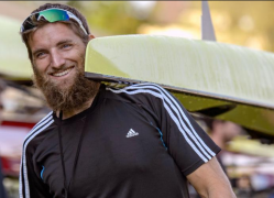 Rower with a beard