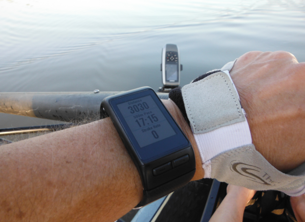 Rowing data, Garmin Vivoactive, Garmin 78c, Rowing gloves, Rowperfect