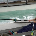 SAS Institute, British Rowing, Helen Glover rowing in the tank at Royal Albert Dock, London