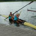 Rowing pair capsize