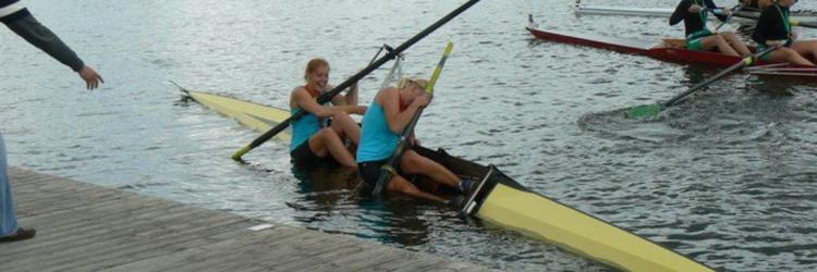 Rowing pair capsize