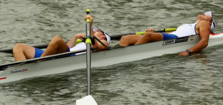 Exhausted Rowers.