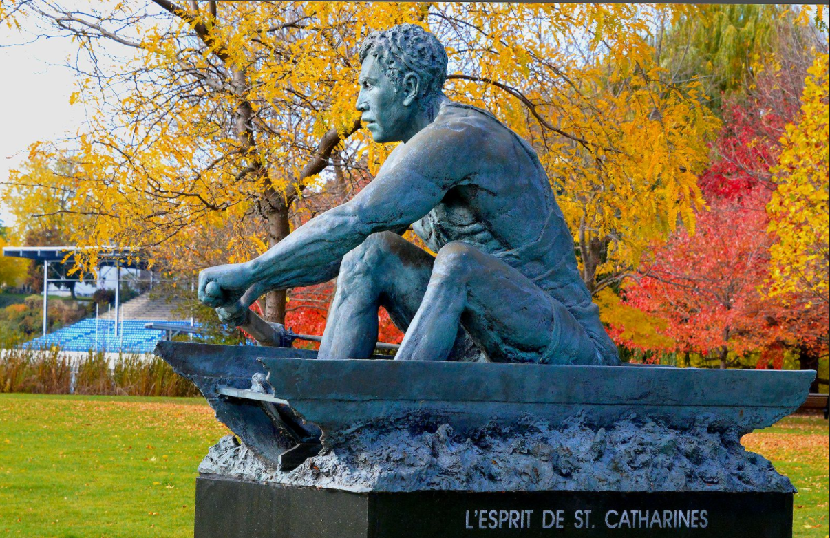 The Spirit of St Catharines statue, Ontario, Canada