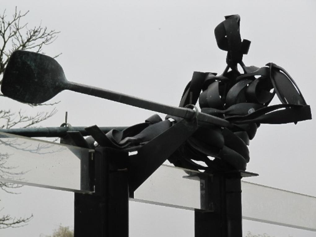 The Rower statue in Gent Belgium
