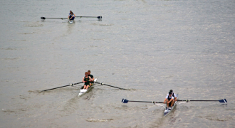 Pairs Head Rowing Racing on Tideway London