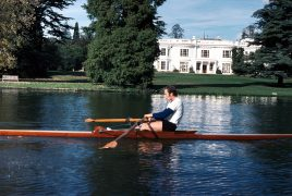 Tim Crooks sculling at Henley