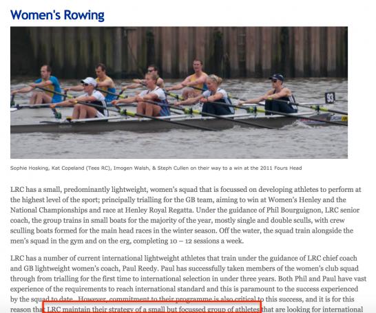 London Rowing Club women