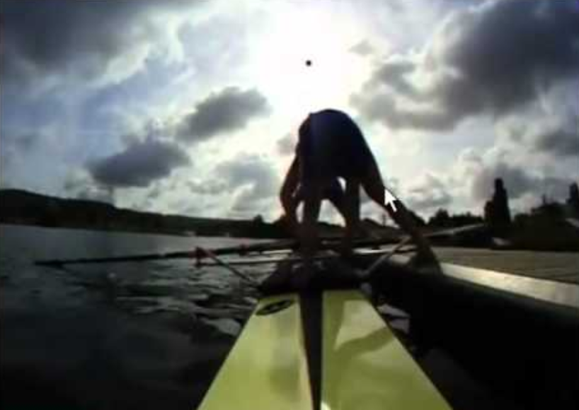 Rowing push off dock