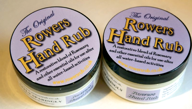 Rowers hand rub, rowing balm, rowing sore hands