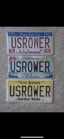 US Rower license plate