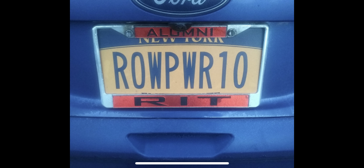 Row Power 10 license plate