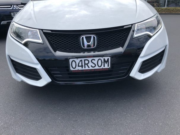 Oarsom car license plate