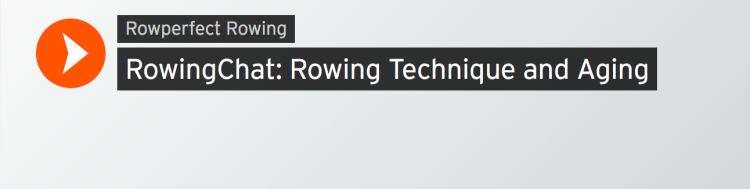 Rowing technique and aging