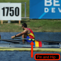 Rowing rigging, rowing inflexible,