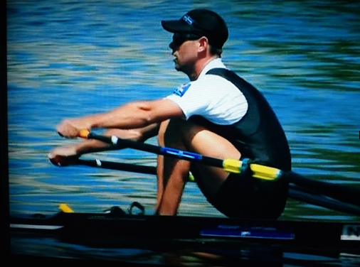 Robbie Manson, NZL, Rowing, sculling at the catch