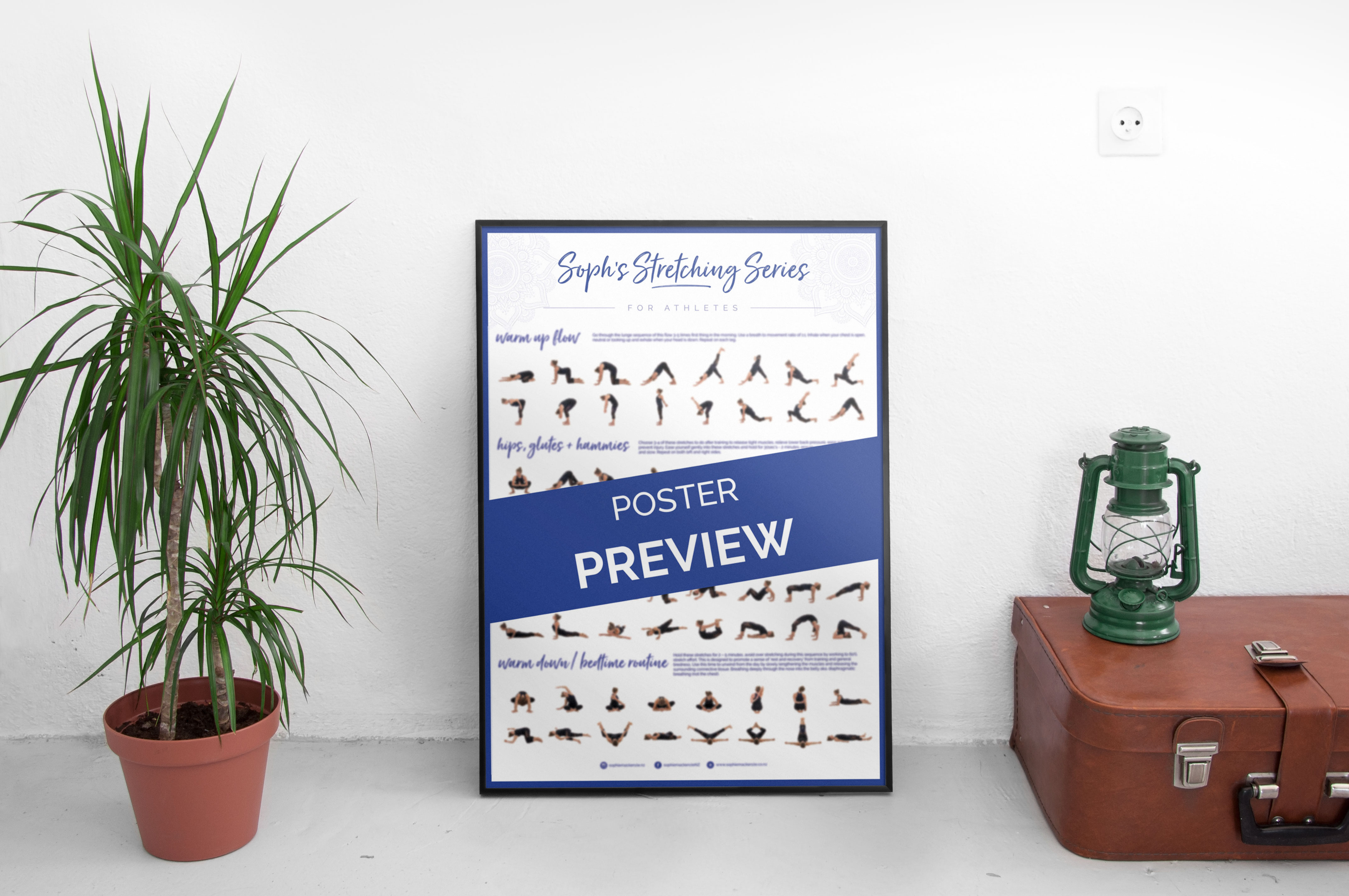 Stretching for Rowing A2 poster
