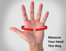 How to measure your hand for rowing gloves