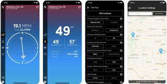 Wind Compass app screenshots