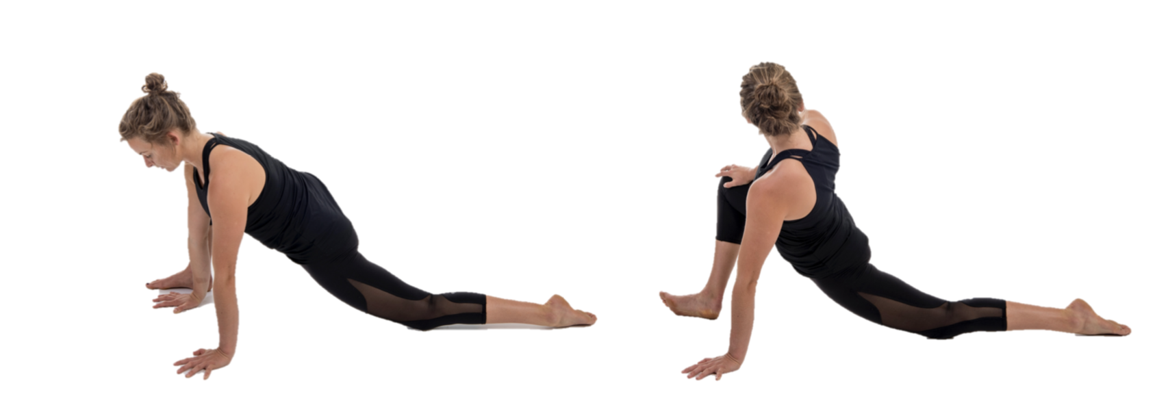 Runners Lunge and variant stretch for rowers