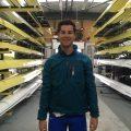 Angus Groom tests the rowing anorak