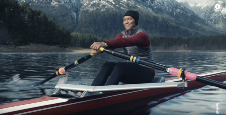 Meghan O'Leary US rowing in the Lincoln car commercial