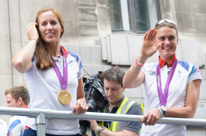 Goldmedaillengewinnerinnen Helen Glover and Heather Stanning