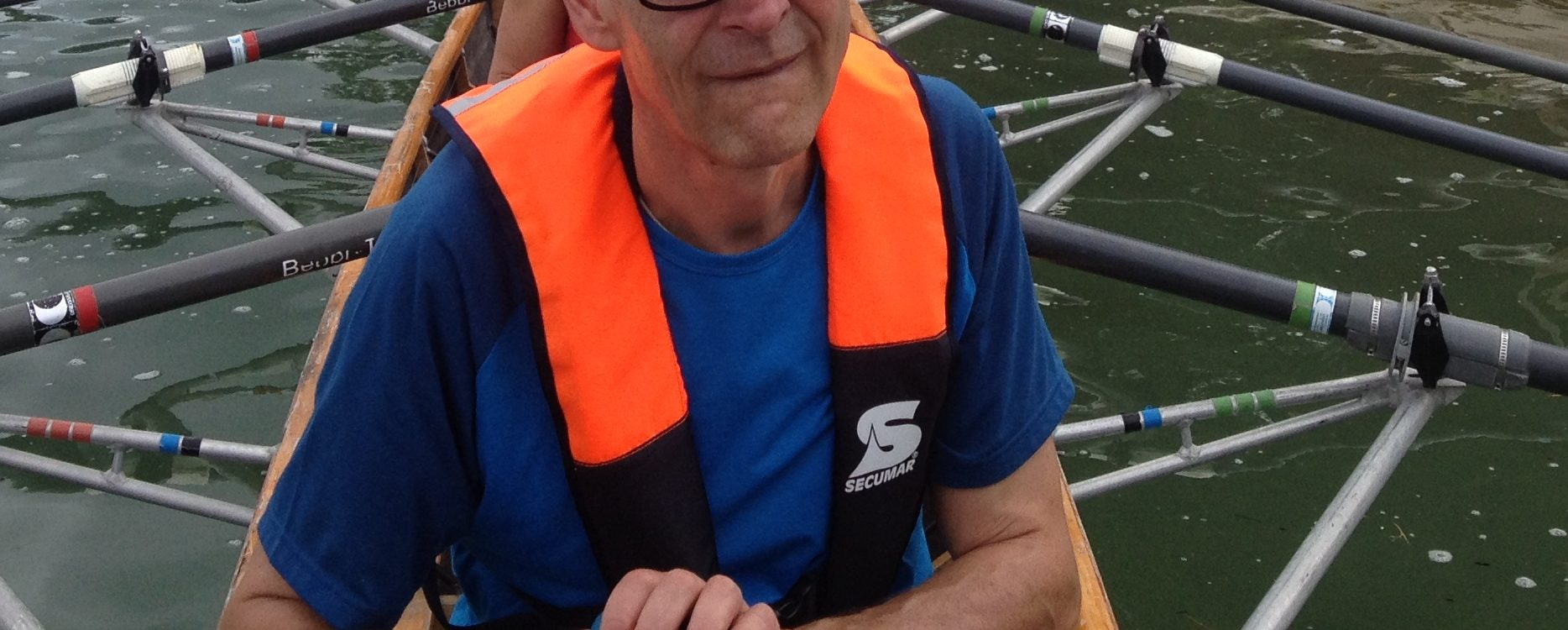 VIVO 100 Life Jacket in a touring rowing boat