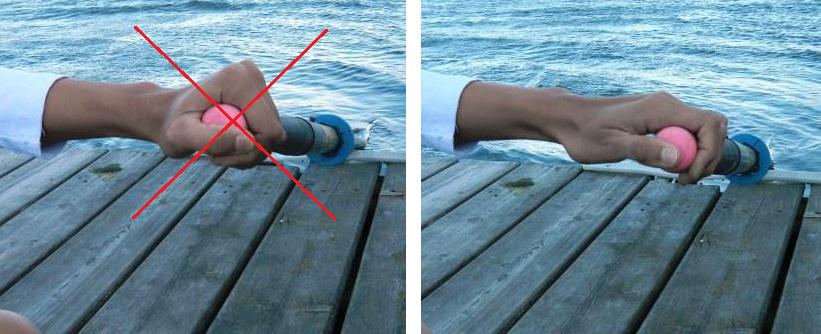 sculling grip, oar grip, how to hold a rowing oar