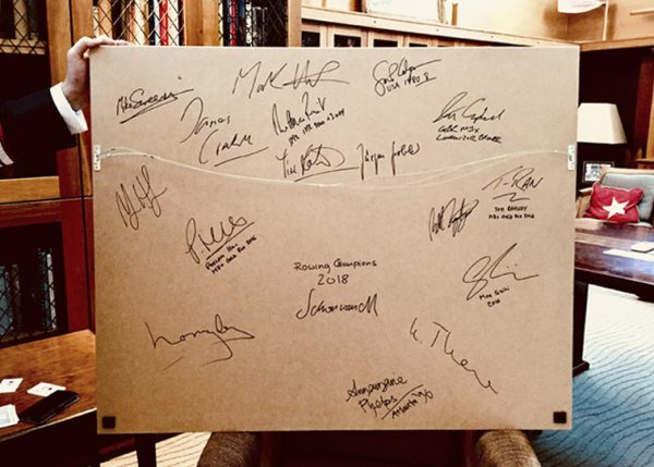 Rowers' autographs