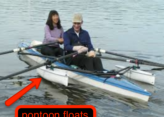 pontoon floats for rowing crew