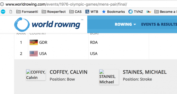 rowing, US Rowing, USA Olympic Pair 1976