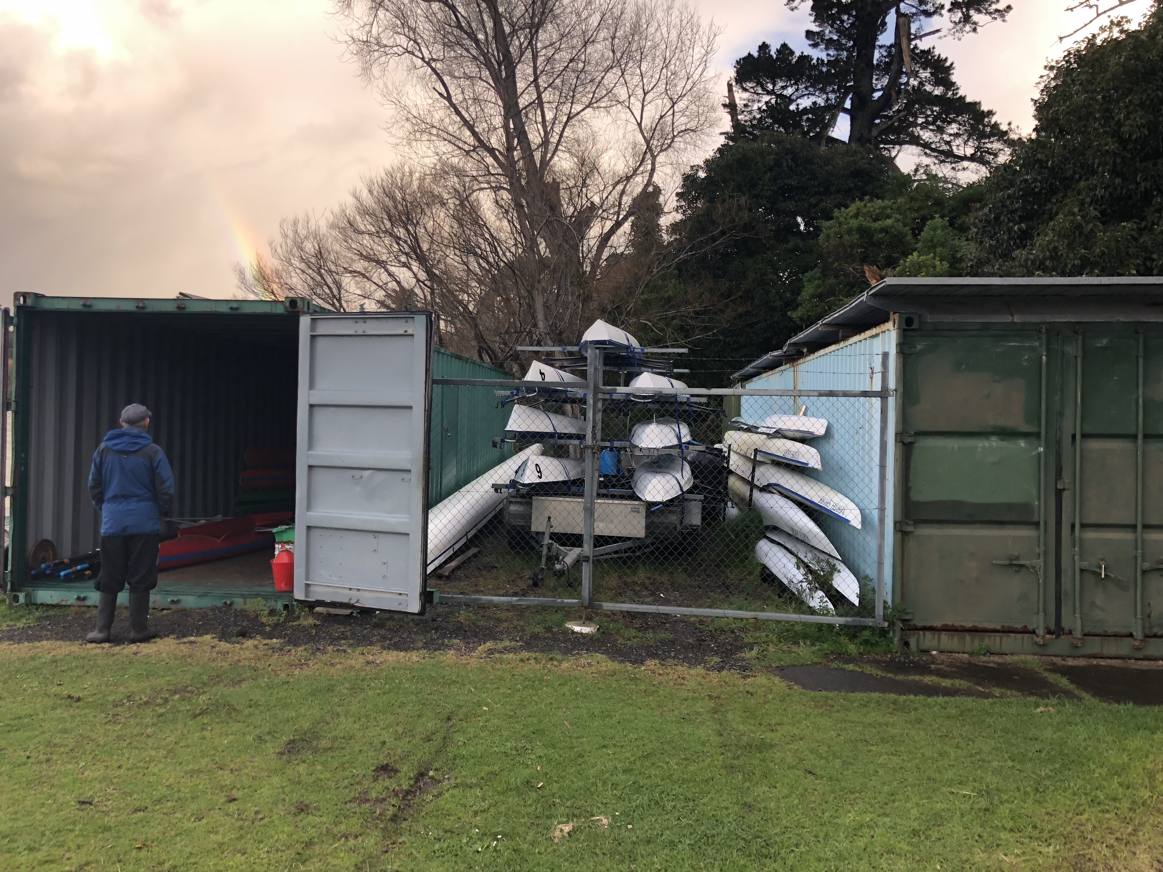 rowing boat storage, container storage for boats,