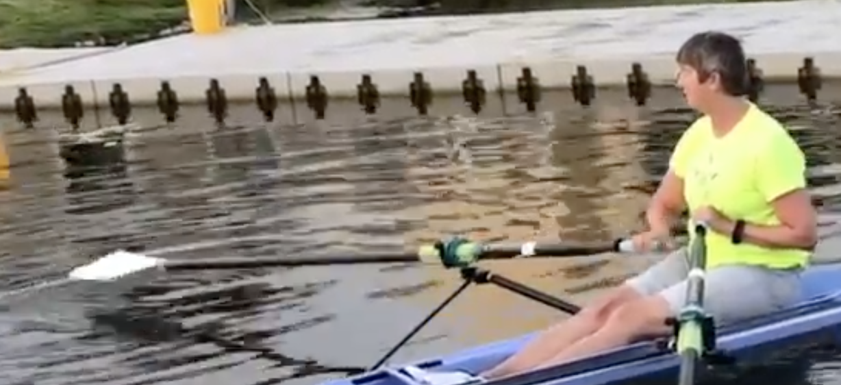 sculling oar finish tutorial, Marlene Royle
