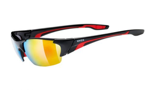 uvex blaze III - black red