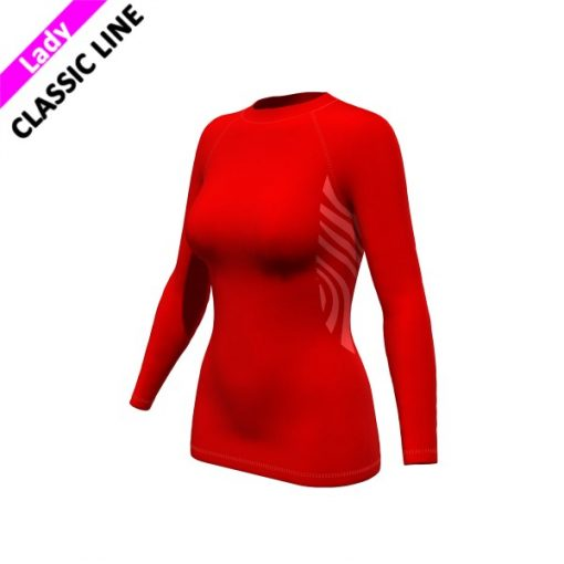 2skin Plain - Longsleeve - red - womens