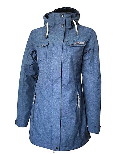 London Women's Melange Function-Coat navy