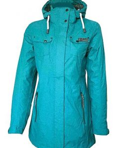 London Women's Melange Function-Coat sea green