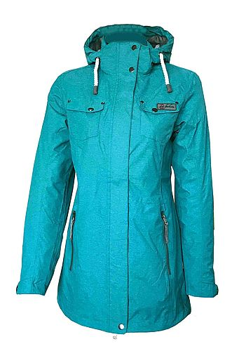 """Langeoog"" Damen Funktions-Mantel sea green"