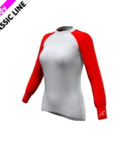 Mesh-Gamex Longsleeve - Red womens