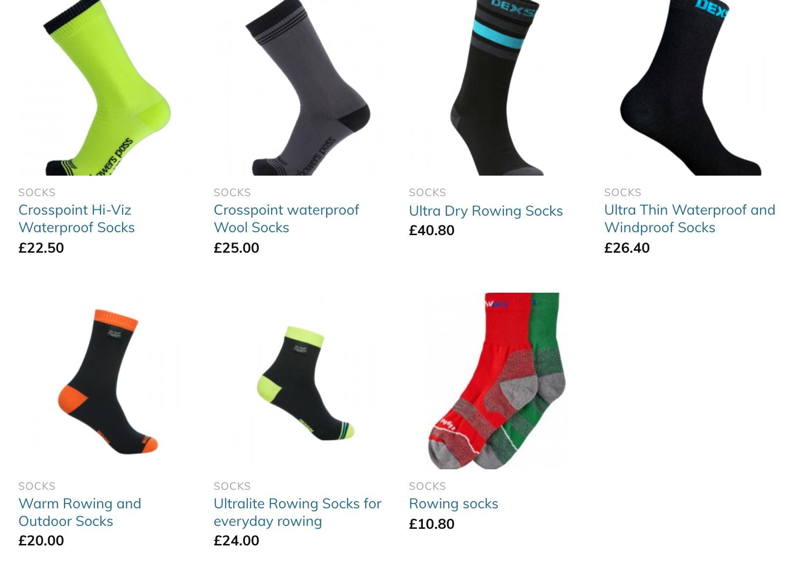 rowing socks, waterproof socks, watersport socks, warm feet winter,
