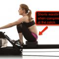 rowing shorts waistline, rowing machine clothing