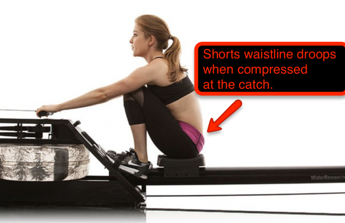 rowing shorts waistline, rowing machine clothing