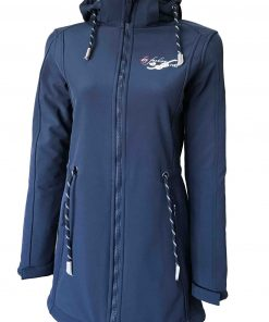 Sylt Damen Softshell-Mantel navy
