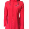 Sylt Damen Softshell-Mantel red