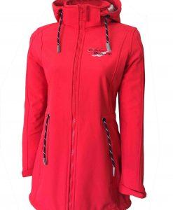 Sylt Damen Softshell-Mantel red